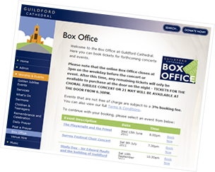 Screenshot of Box Office & Ticketing Management web-based system